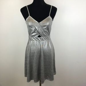 Xhilaration Strappy Cut Out Foiled Dress*